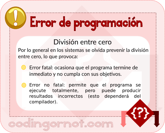 Error de programación
