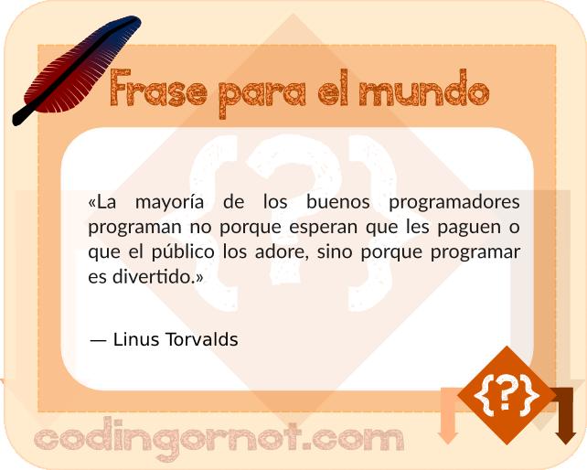Frase de Linus Torvalds